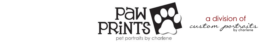 paw prints | pet portraits by charlene logo